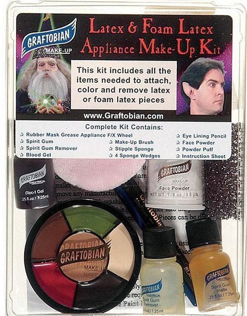 Kit för våra Latex/Skumlatex masker & Effekter Graftobian Komplett Smink-kit