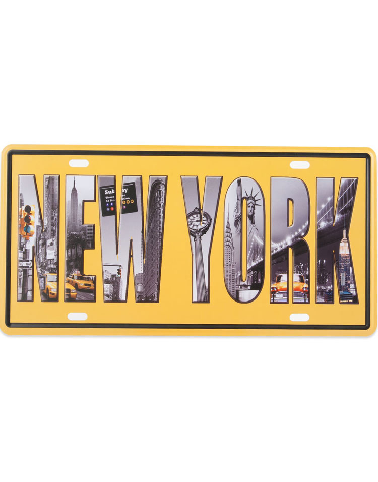 New York - 31x15 cm Metallskylt