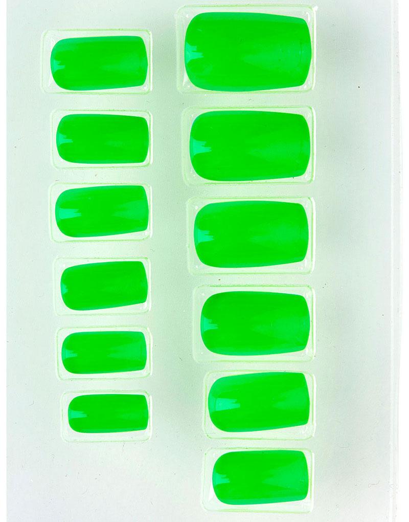 12 stk Neongröna Lösnaglar