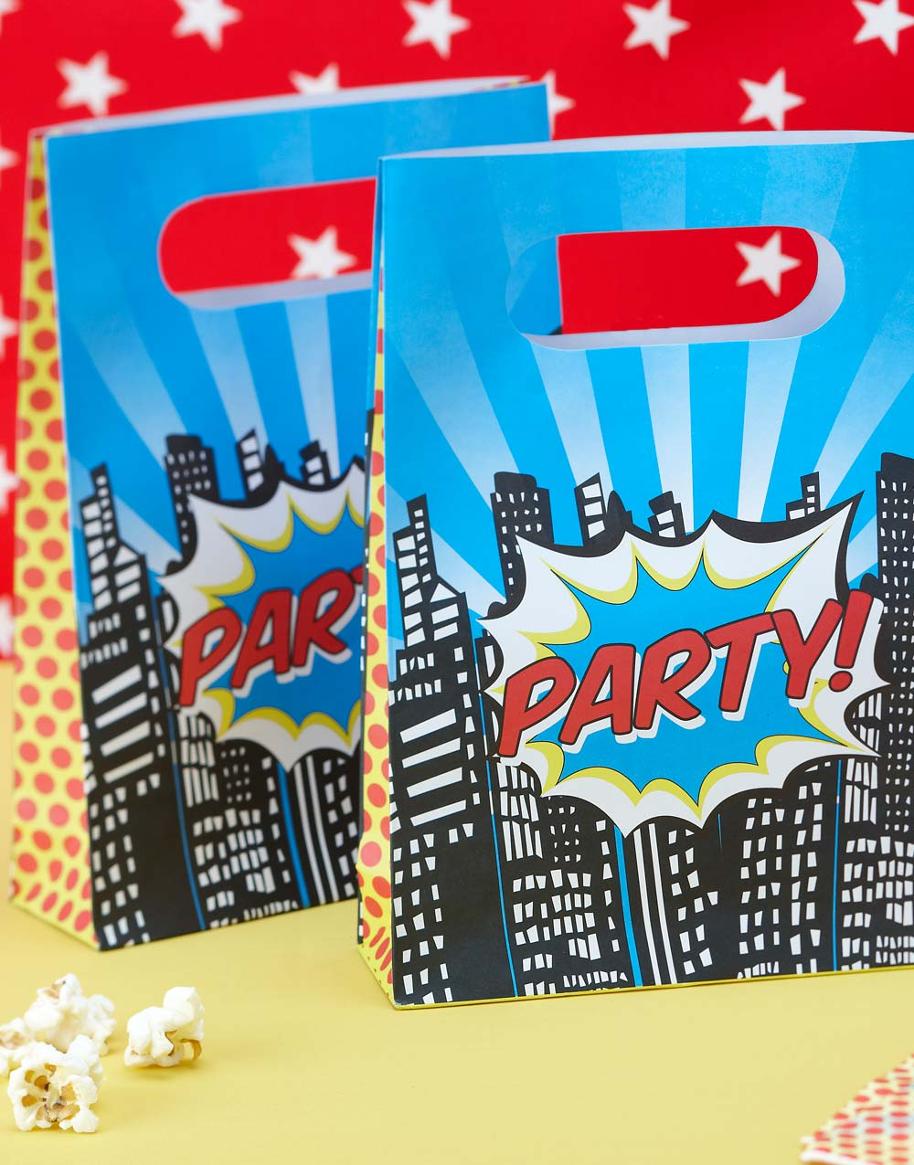 8 stk Party Bags - Pop Art Superhjältar