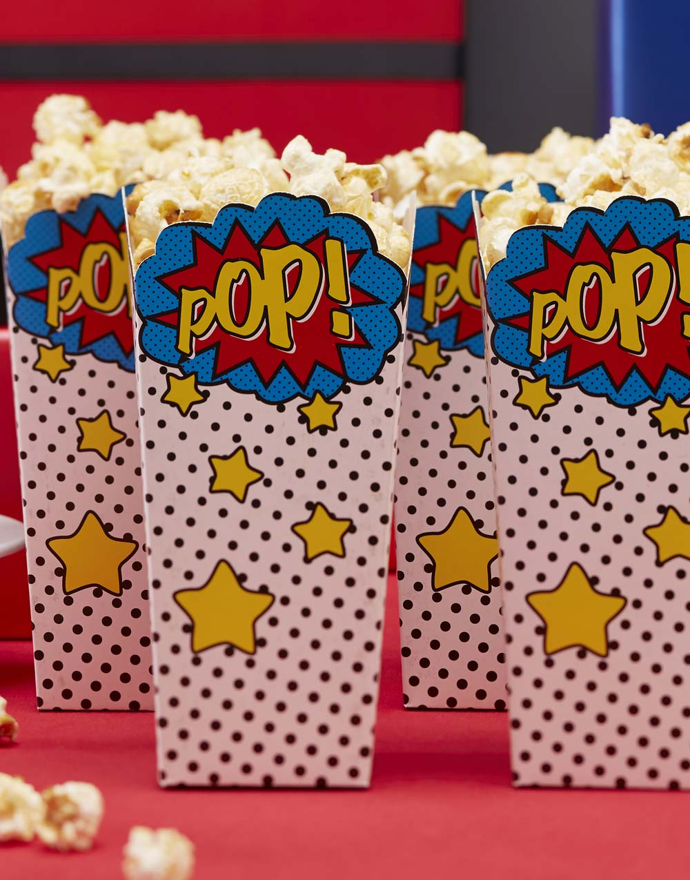 POP! 8 st Popcorn Bägare - Pop Art Seriefigursparty