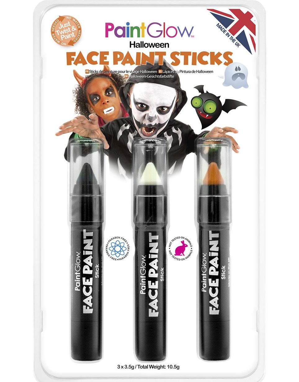 Halloween Face - Sminkset med 3 Sminkstift