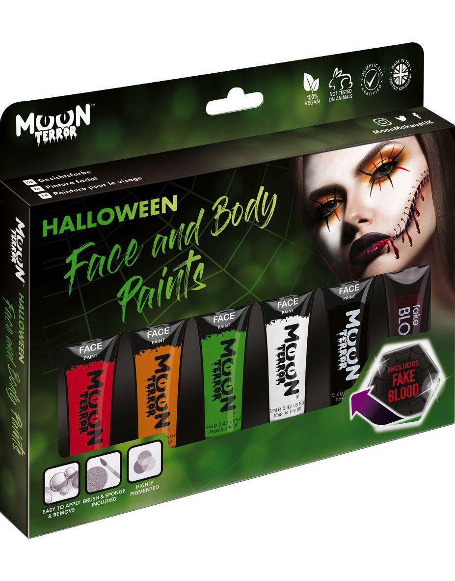 Halloween Sminkset till Ansikte och Kropp