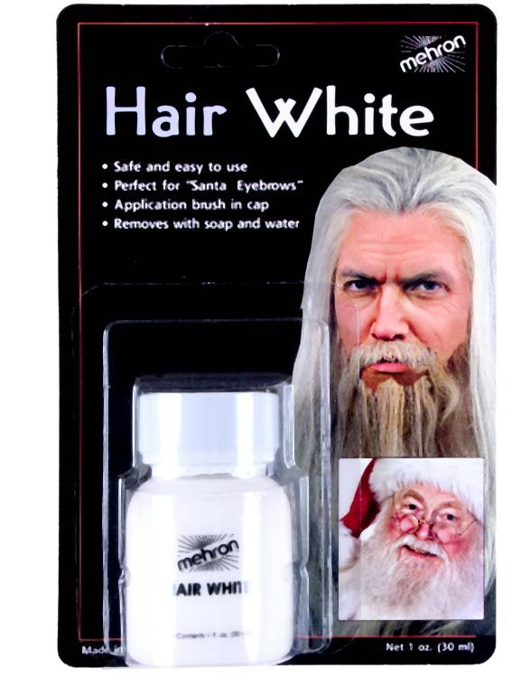 Mehron Hair White - 30 ml Hårfärg