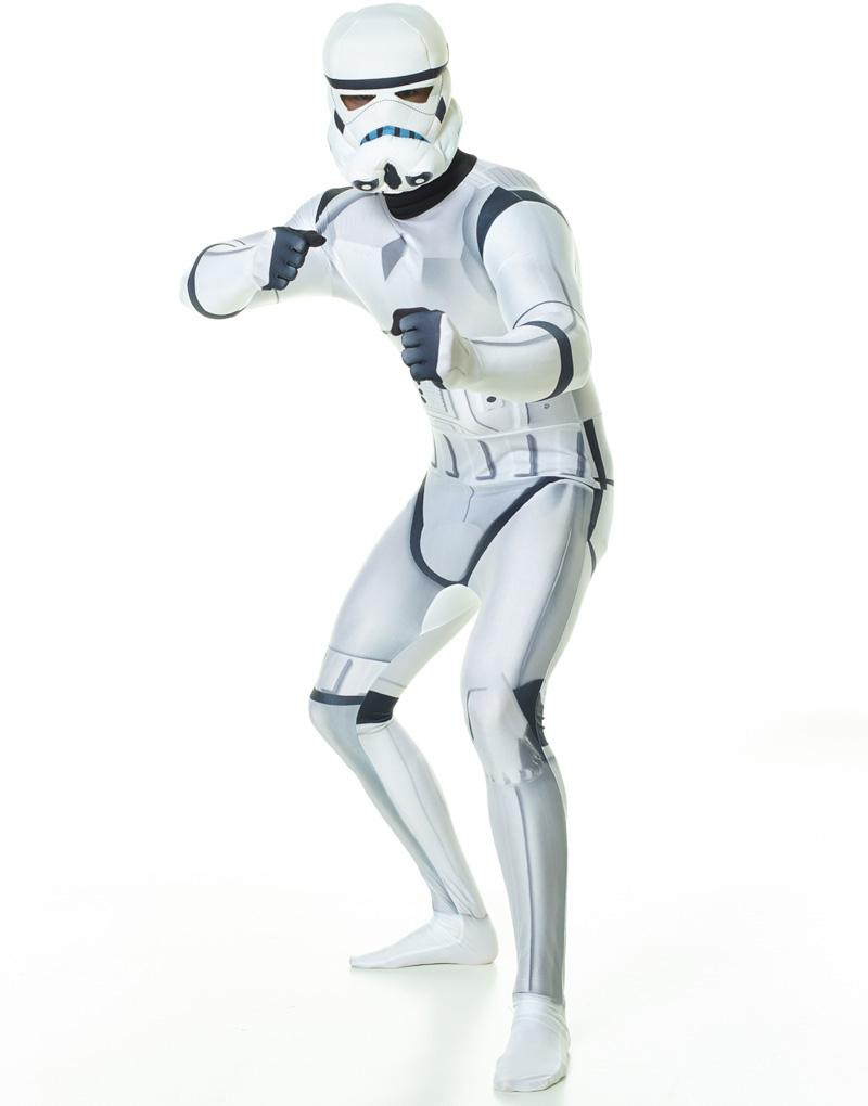 "Licensierad Strom Trooper Star Wars - Orginal Morphsuit Kostym med ""ZAPPAR"" Funktion"