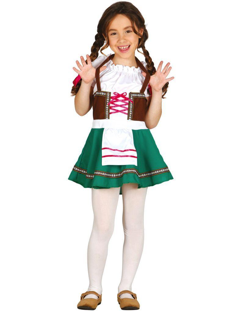 Brun och Grön Oktoberfest Dräkt till Barn
