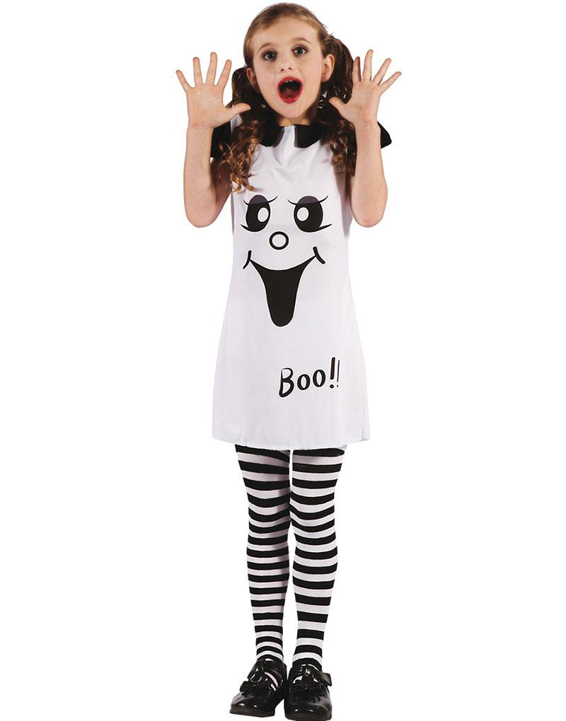 Vit Spökklänning Barndräkt