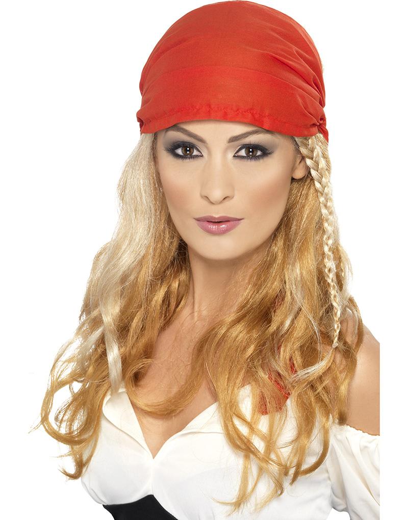 Blond Piratperuk med Bandana
