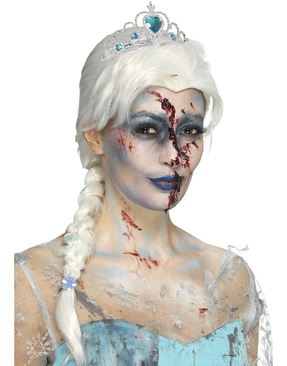Vit Elsa Inspirerad Peruk med Fläta