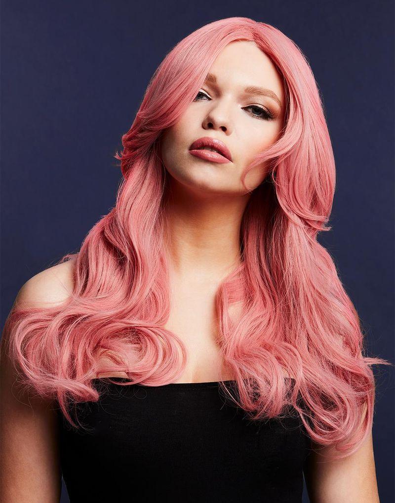 Nicole Deluxe Wig - Kan Styles! - Ask-Rosa Peruk med Vågor