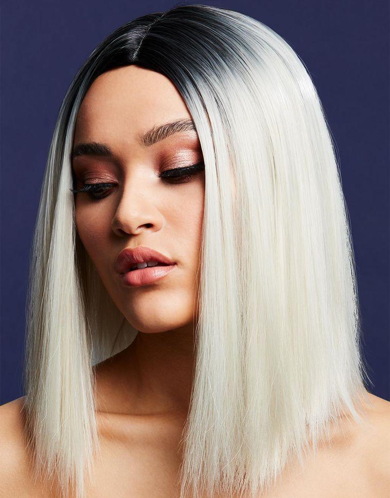 Kylie Deluxe Wig - Kan Styles! - Blond Peruk med Lång Bob-Frisyr