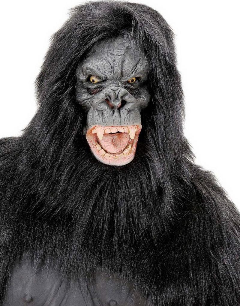 Deluxe Gorilla Mask med Hår
