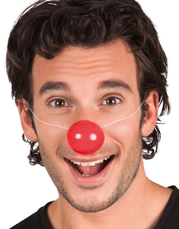 6 stk Röda Clownnäsor i Plast