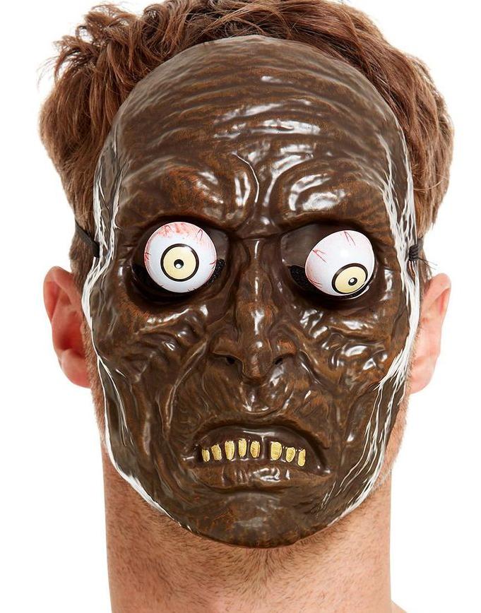 Zombie Mask i Tunn Plast med Rörliga Ögon
