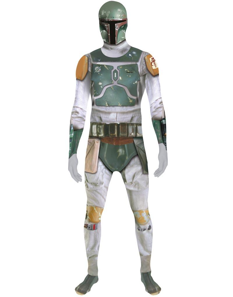 """Licensierad Boba Fett Star Wars - Orginal Morphsuit Kostym med """"ZAPPAR"""" Funktion"""