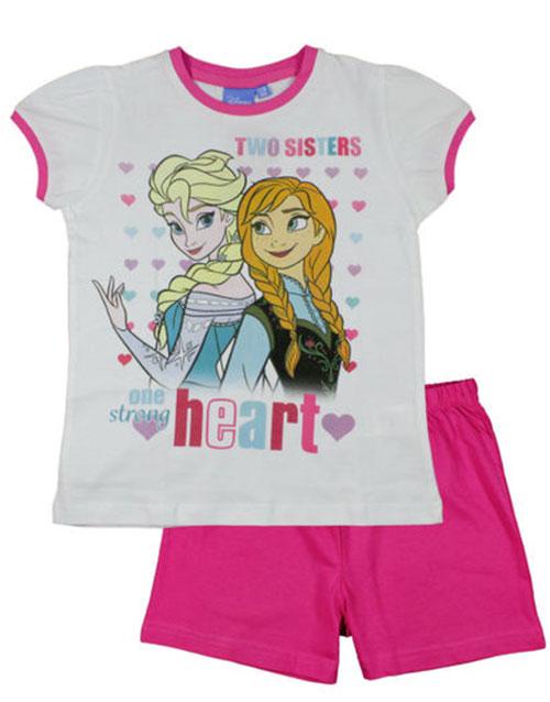 Vit och Rosa Frozen Pyjamas för Flicka