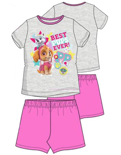 Grå och Rosa Paw Patrol Skye och Everest Pyjamas