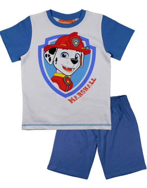 Vit och Blå Paw Patrol Marshall Pyjamas