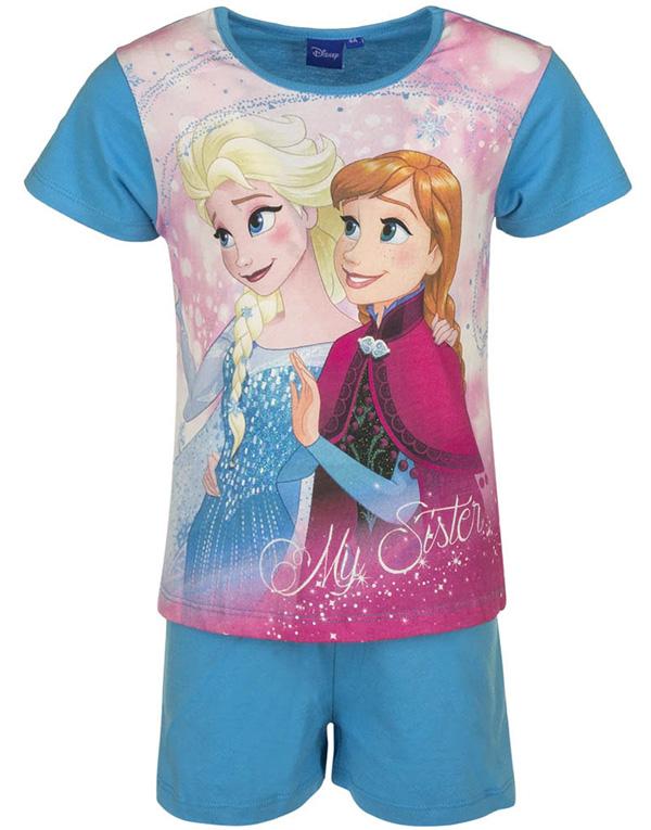 Ljus Blå Anna och Elsa Pyjamas till Flicka