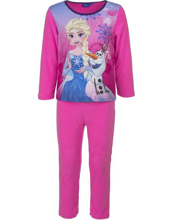 Rosa Elsa och Olaf Pyjamas / Mysdress i Fleece till Barn