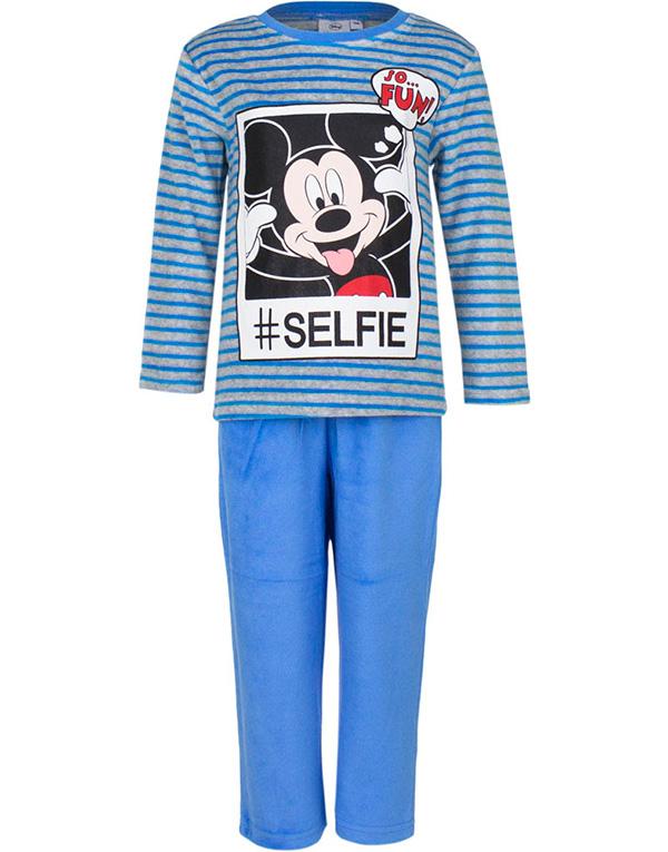 Blå och Grå Musse Pigg Velour Pyjamas till Barn