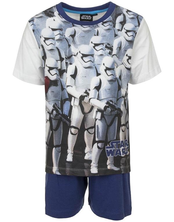 Vit och Blå Stormtrooper Pyjamas till Pojke