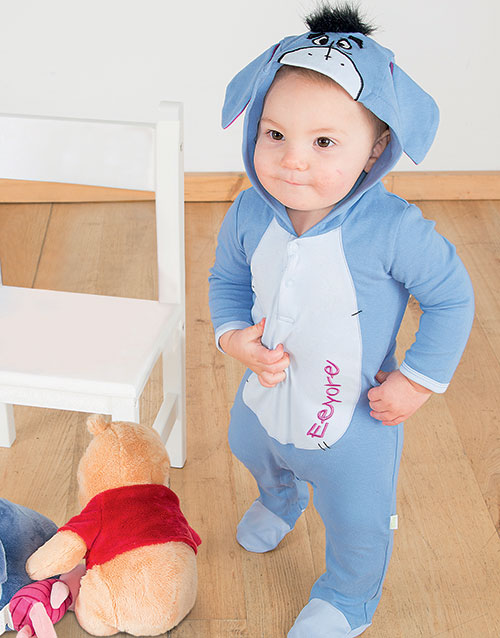 Disney Licensierad Ior Jumpsuit/Pyjamas med Huva till Baby