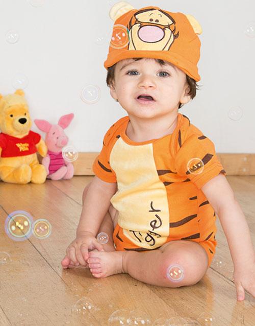 Disney Licensierad Tiger Body och Mössa till Baby