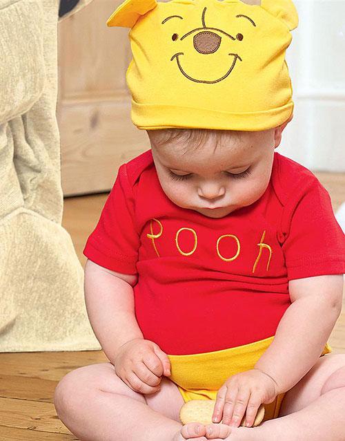 Disney Licensierad Nalle Puh Body och Mössa till Baby