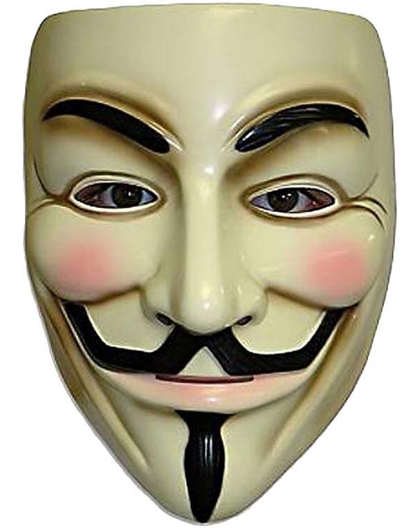 Guy Fawkes - Licensierad V för Vendetta Mask