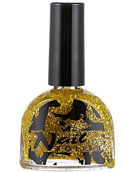 Nagellack 7 ml – Guld med Glitter