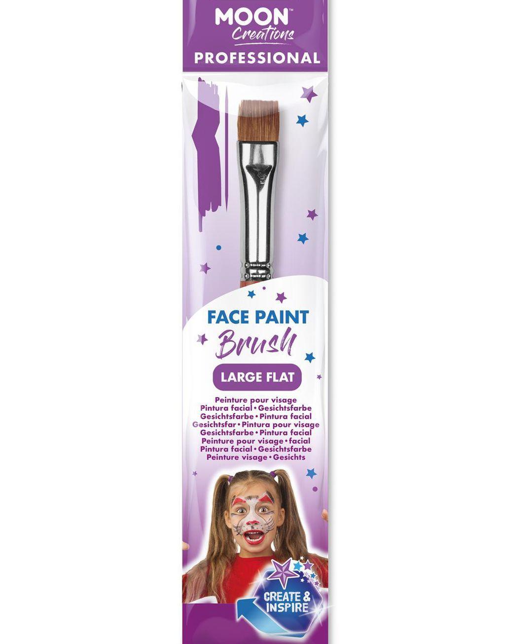 Pensel / Sminkborste med Stor Flat Spets
