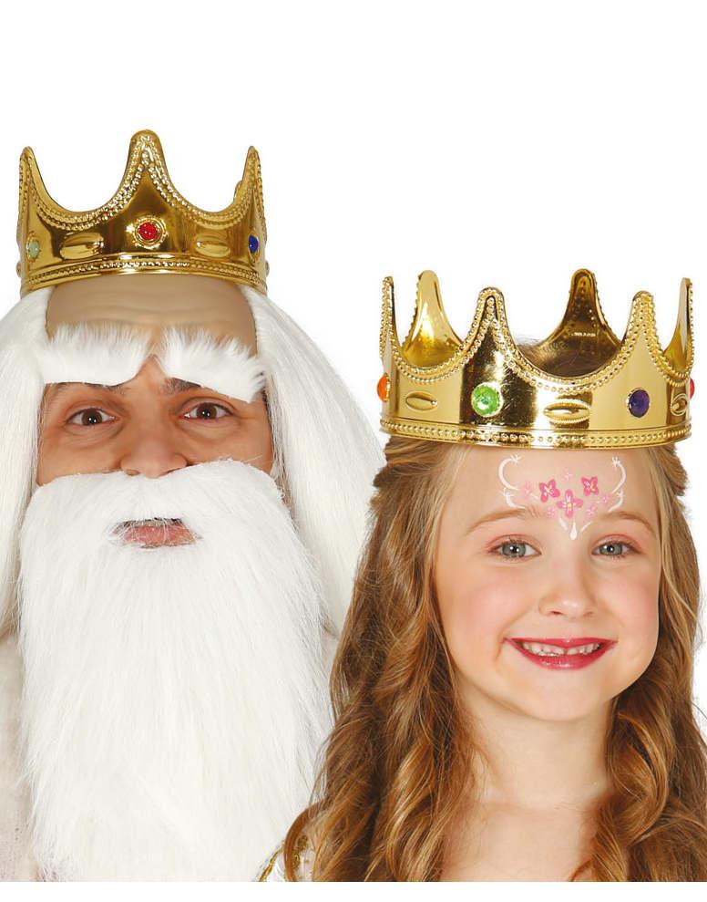 Guldfärgad Drottning / Prinsess Krona till Barn
