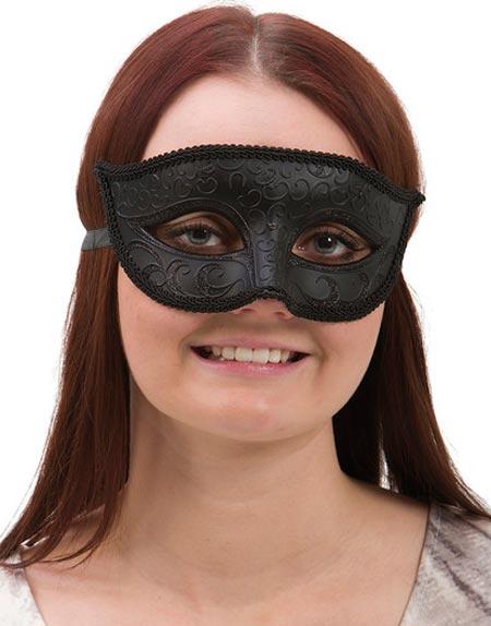 Black Venetian Mask - Hemlig Fresterska