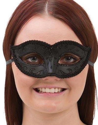Black Venetian Mask - Flirtande Älskarinna
