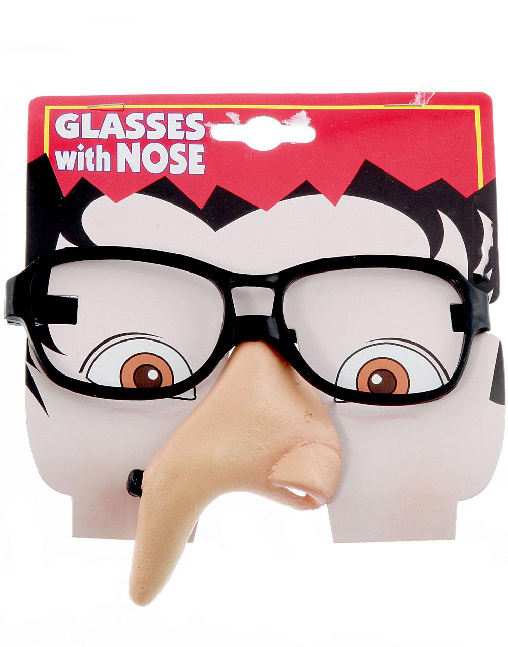Glasögon med Näsa – Spetsig Näsa