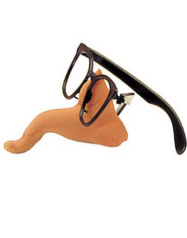 Glasögon med näsa - krokig näsa
