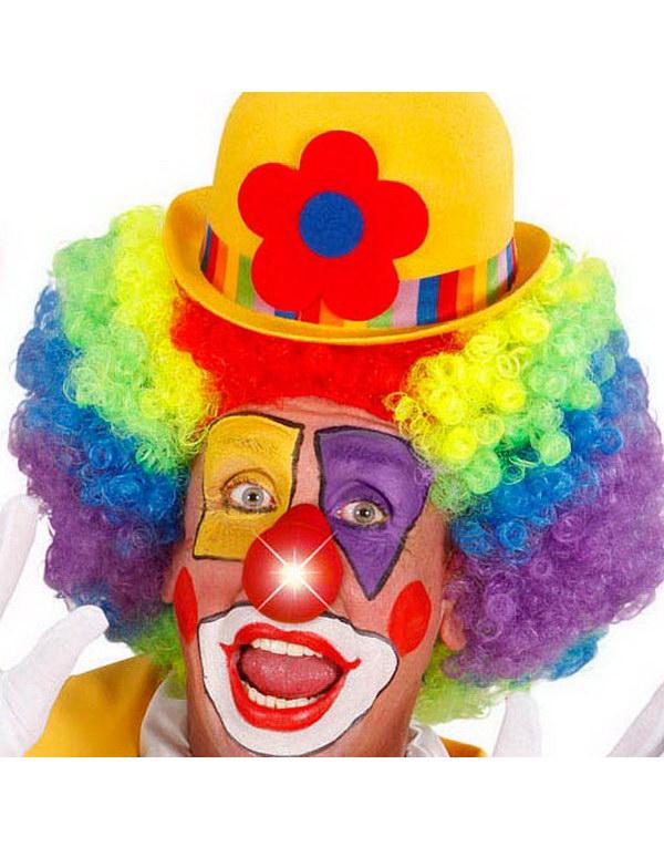 Röd Clownnäsa med LED-Ljus