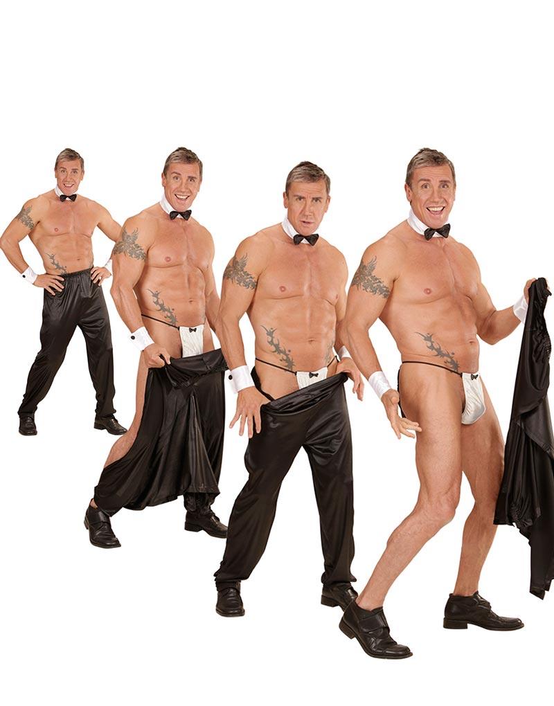 7be7ec09c6ea Svart Stripper Kostymbyxa Till Man -SportGigantisk