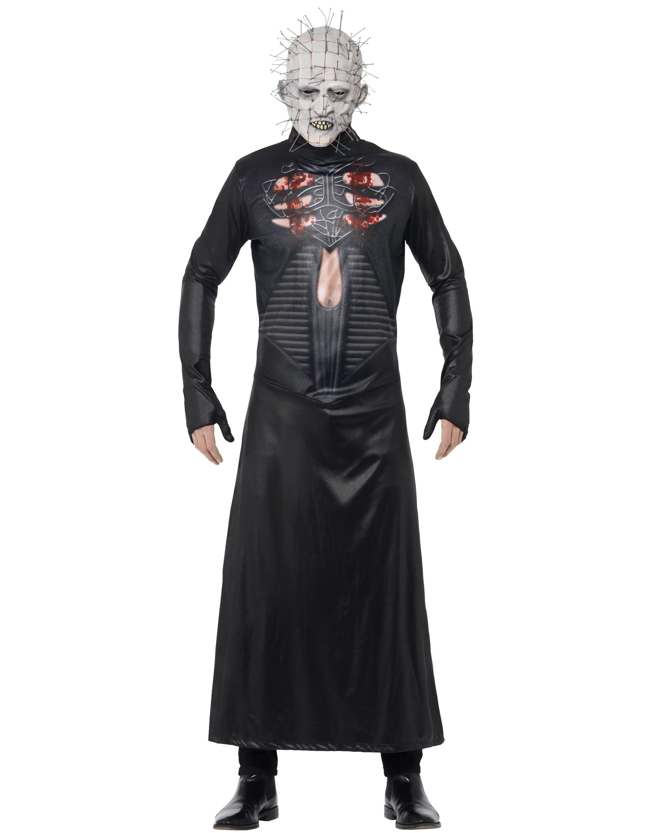 Licensierad Hellraiser III Pinhead Kostym med Mask