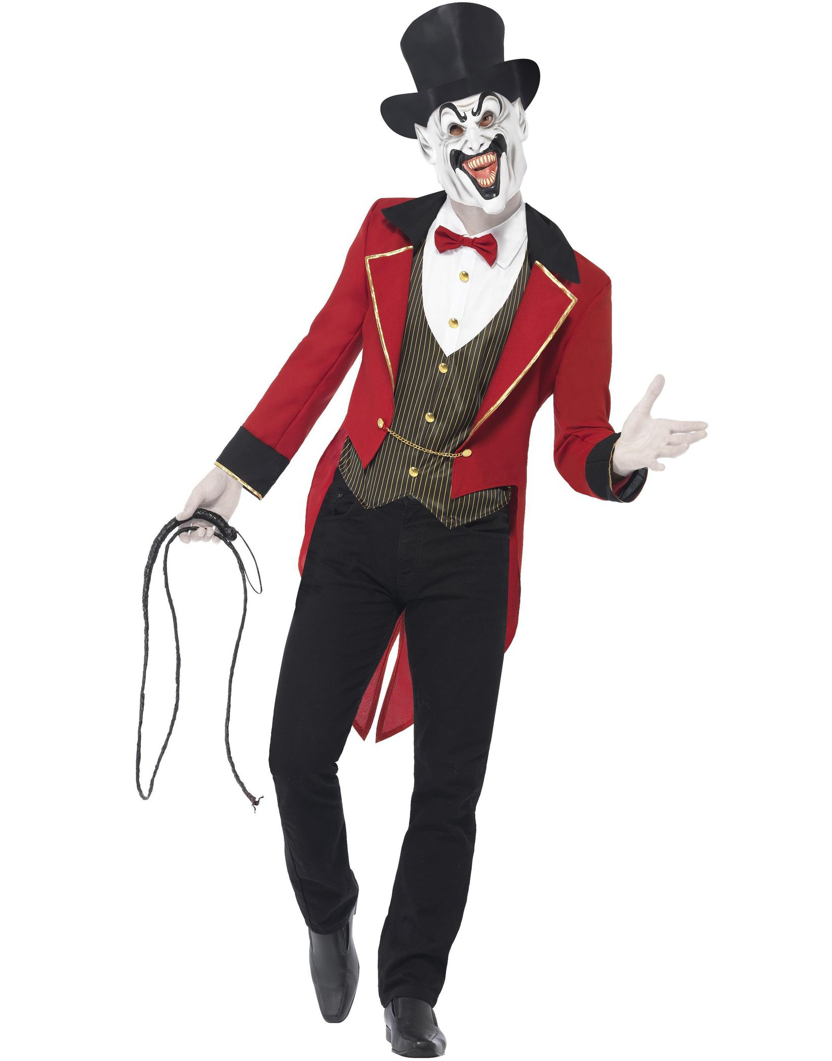 Ondskefull Cirkusdirektör - Kostym till Man med Mask och Hatt