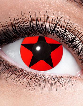 Röda och Svarta Star Mangekyo Crazylinser