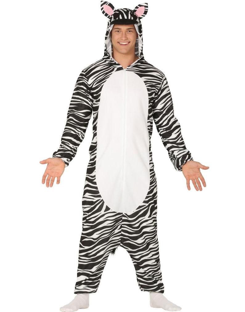 Zebra Kigurumi Unisex Dräkt