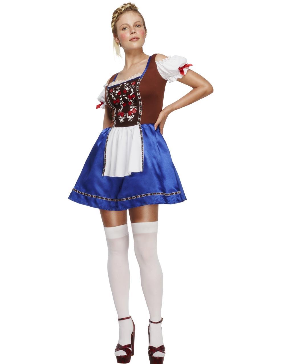 Oktoberfest Klänning med Förkläde och Broderi - Kostym 9cb8cb414d7b0