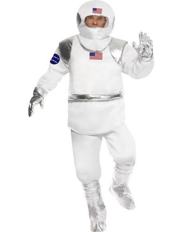 Space Man - Komplett Kostym i Strl Onesize Medium