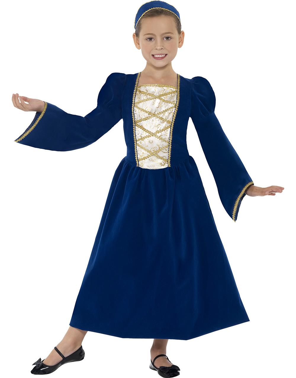 Tudor Renässansprinsessa Barnkostym