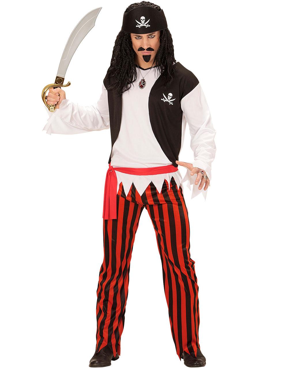 Piratdräkt till Man 4 Delar