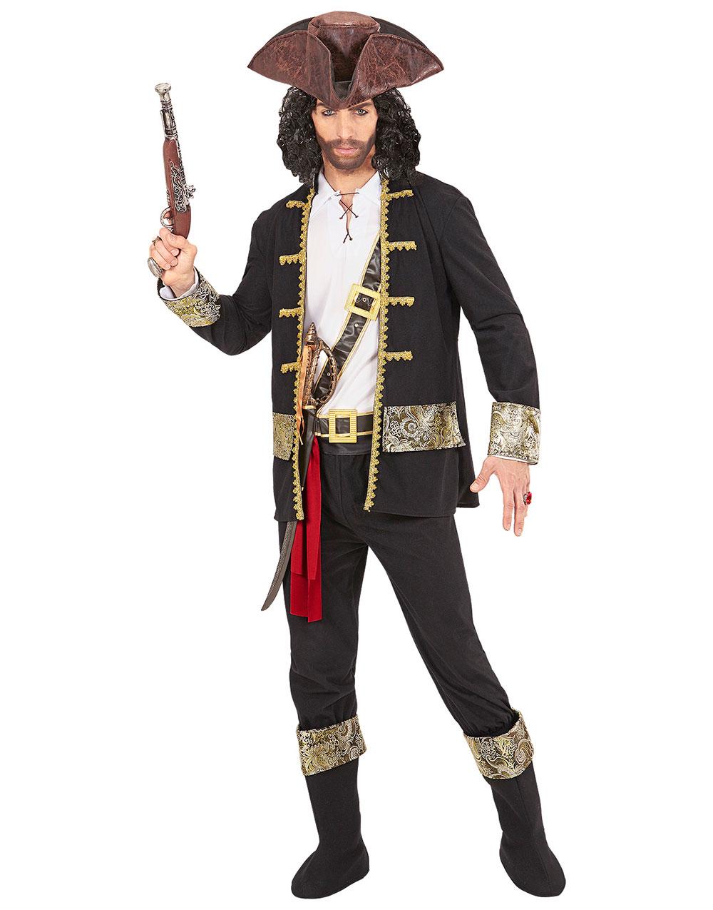 Komplett Piratdräkt till Man 7 Delar