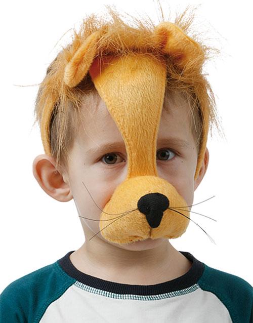 Lejon - Diadem med Mask