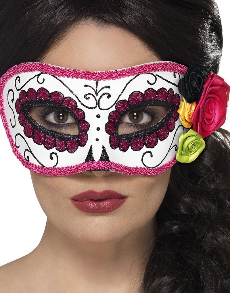 Pink Senorita - Day of The Dead Maskerad Mask